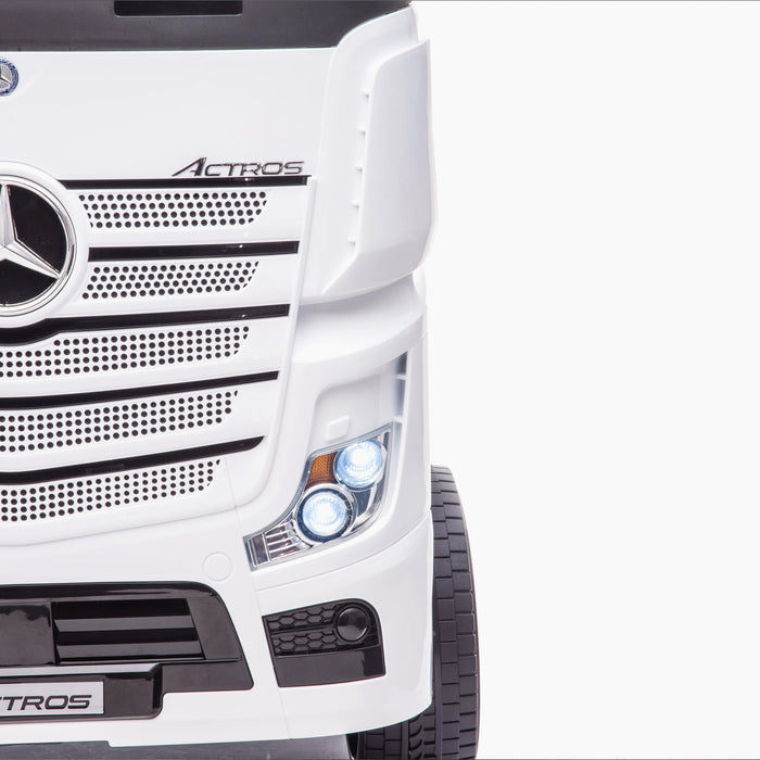kids mercedes actros licensed ride on electric truck battery operated power wheels with parental remote control main front ligjts on benz 24v 4wd