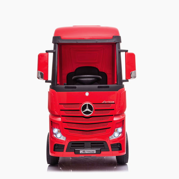 kids mercedes actros licensed ride on electric truck battery operated power wheels with parental remote control main red front direct benz 24v 4wd