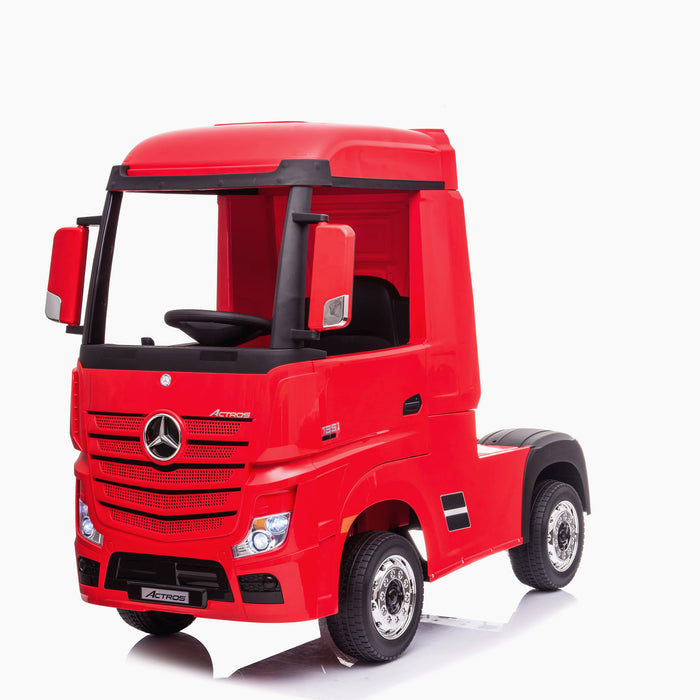 kids mercedes actros licensed ride on electric truck battery operated power wheels with parental remote control main red front benz 24v 4wd