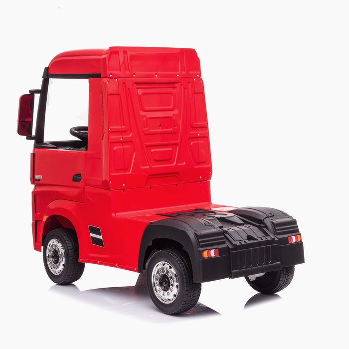 kids mercedes actros licensed ride on electric truck battery operated power wheels with parental remote control main red rear 2 benz 24v 4wd