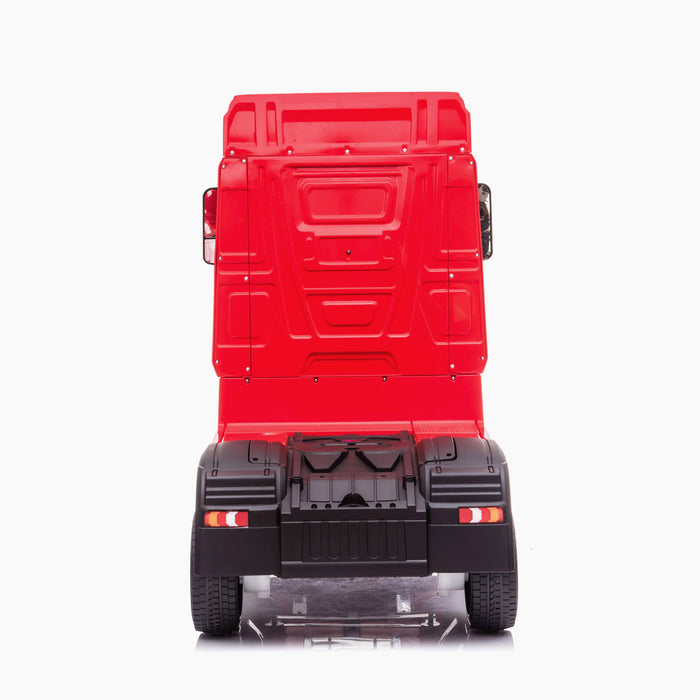 kids mercedes actros licensed ride on electric truck battery operated power wheels with parental remote control main red rear direct benz 24v 4wd
