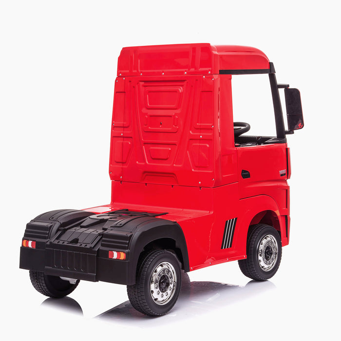 kids mercedes actros licensed ride on electric truck battery operated power wheels with parental remote control main red rear benz 24v 4wd