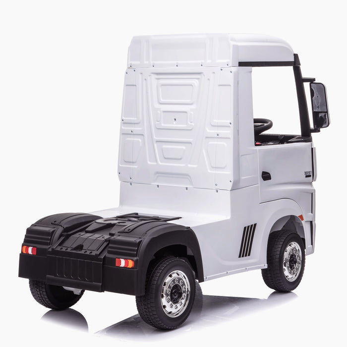 kids mercedes actros licensed ride on electric truck battery operated power wheels with parental remote control main white rear benz 24v 4wd