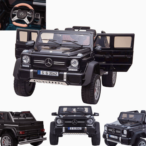 kids mercedes g650 electric ride on car battery parental remote control car 24v black licensed amg