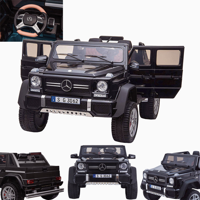 kids mercedes g650 electric ride on car battery parental remote control car 24v black 2 licensed benz maybach 2 seater 4wd jeep
