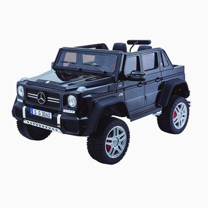 kids mercedes g650 electric ride on car battery parental remote control car 24v black 6 licensed benz maybach 2 seater 4wd jeep