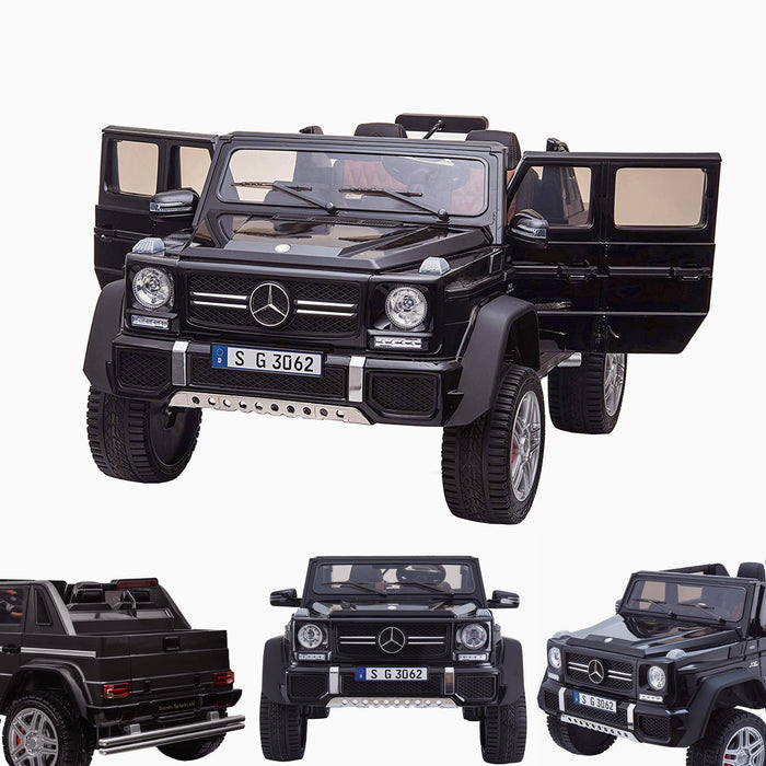 kids mercedes g650 electric ride on car battery parental remote control car 24v black licensed benz maybach 2 seater 4wd jeep black