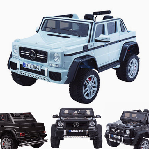 kids mercedes g650 electric ride on car battery parental remote control car 24v white licensed benz maybach 2 seater 4wd jeep white