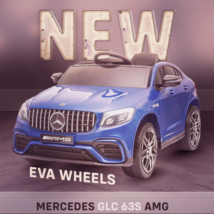 kids mercedes glc 63s ride on car new in stock benz coupe amg licensed 12v 2wd blue