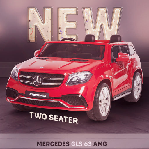 kids mercedes gls 63 amg ride on car new in stock licensed 2 seater electric 24v 4wd red