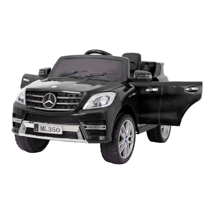 kids mercedes ml350 licensed electric ride on car black 1 4matic 12v 2wd