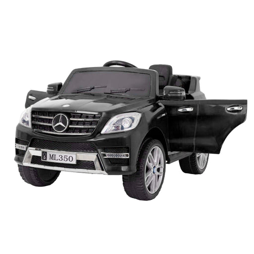 kids mercedes ml350 licensed electric ride on car black 1 4matic