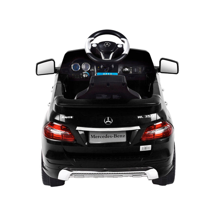 kids mercedes ml350 licensed electric ride on car black 2 4matic 12v 2wd