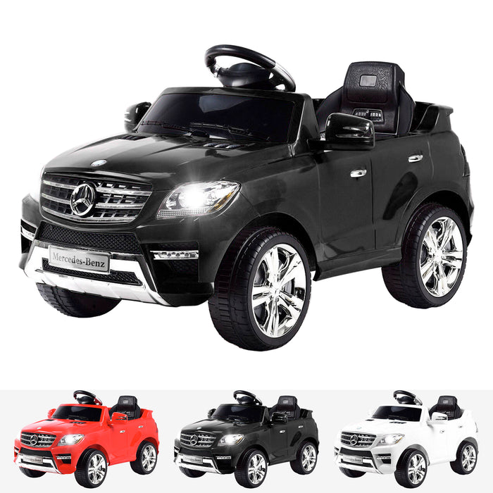 kids mercedes ml350 licensed electric ride on car black 4matic 12v 2wd black