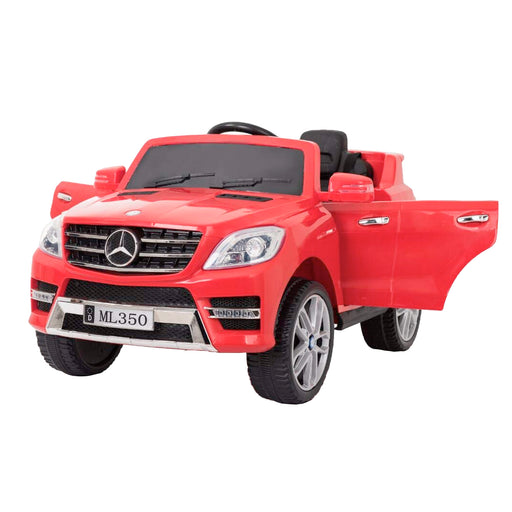 kids mercedes ml350 licensed electric ride on car red 1 4matic 12v 2wd