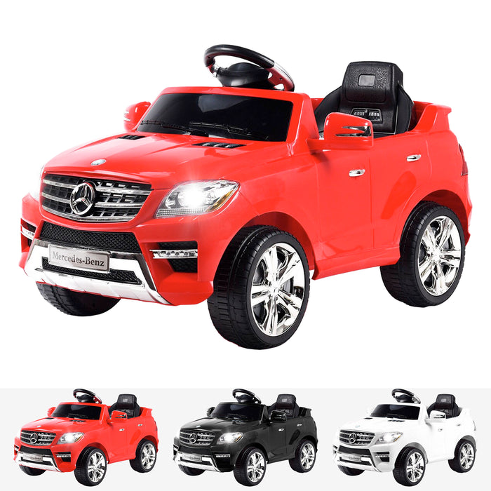 kids mercedes ml350 licensed electric ride on car red 4matic 12v 2wd red
