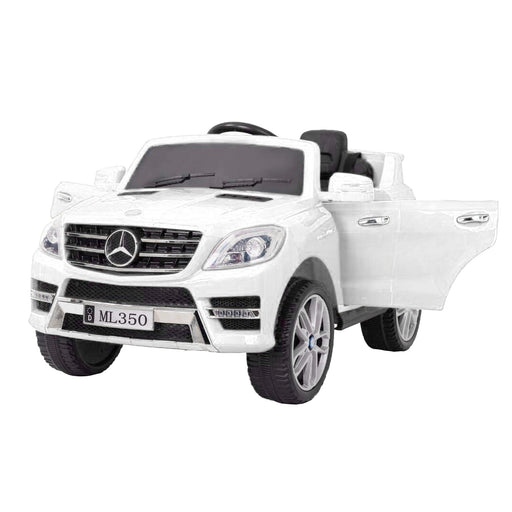 kids mercedes ml350 licensed electric ride on car white 1 4matic 12v 2wd
