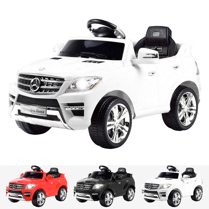 kids mercedes ml350 licensed electric ride on car white 4matic 12v 2wd red