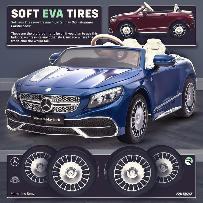 kids mercedes maybach s650 licensed ride on electric car battery operated power wheels car with parental remote control main eva wheels benz 12v 4wd