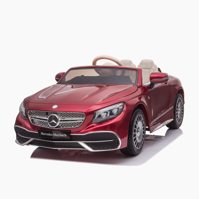 kids mercedes maybach s650 licensed ride on electric car battery operated power wheels car with parental remote control main front 3 red benz 12v 4wd