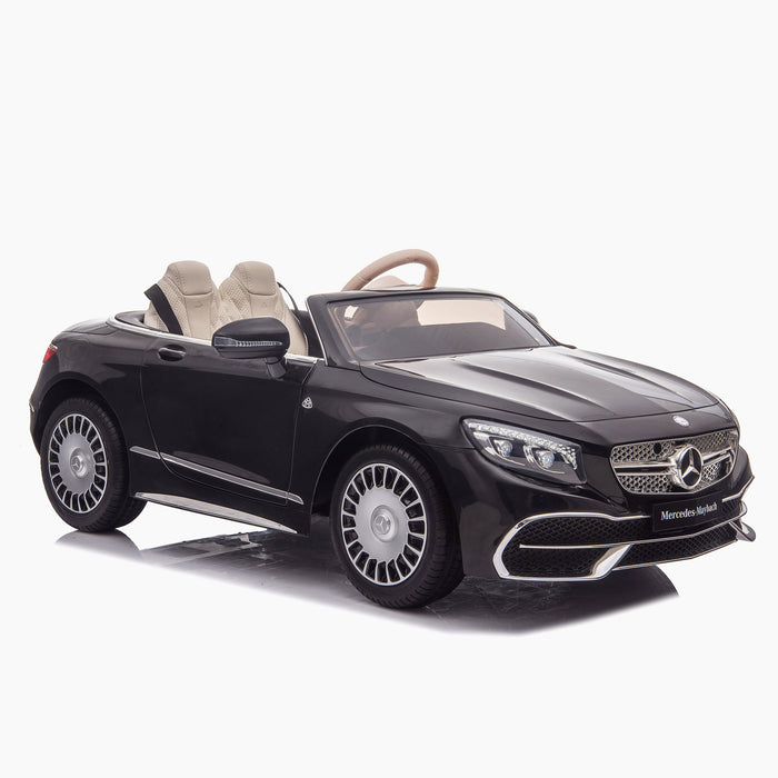 kids mercedes maybach s650 licensed ride on electric car battery operated power wheels car with parental remote control main front 4 black benz 12v 4wd