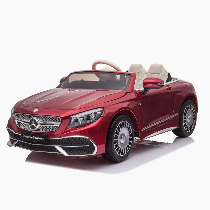 kids mercedes maybach s650 licensed ride on electric car battery operated power wheels car with parental remote control main front 4 red benz 12v 4wd