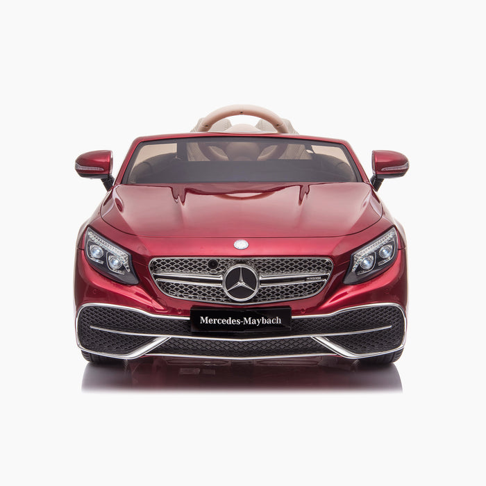 kids mercedes maybach s650 licensed ride on electric car battery operated power wheels car with parental remote control main front direct red benz 12v 4wd
