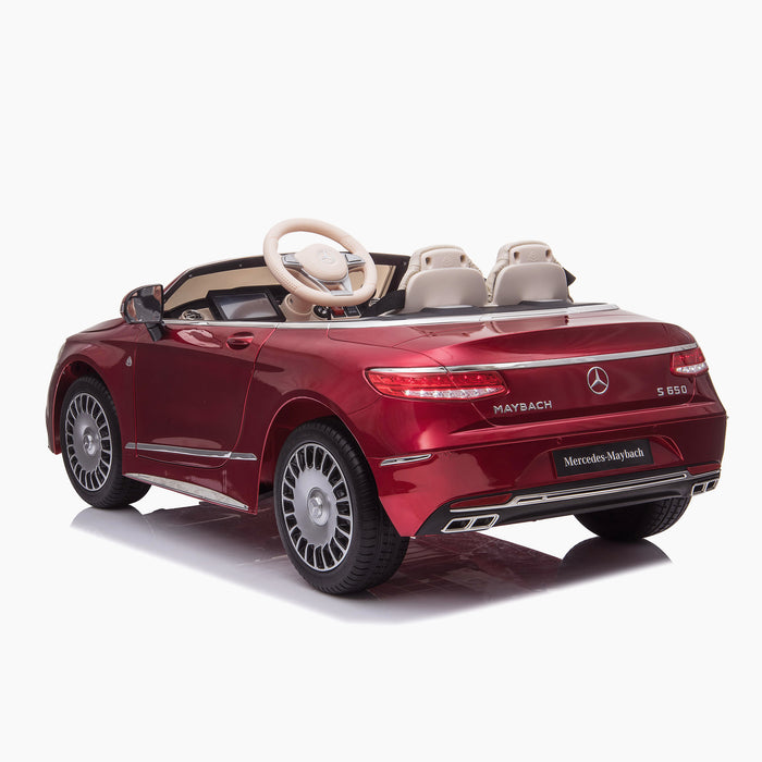 kids mercedes maybach s650 licensed ride on electric car battery operated power wheels car with parental remote control main rear red benz 12v 4wd