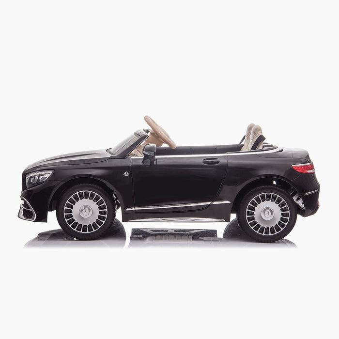 kids mercedes maybach s650 licensed ride on electric car battery operated power wheels car with parental remote control main side black benz 12v 4wd