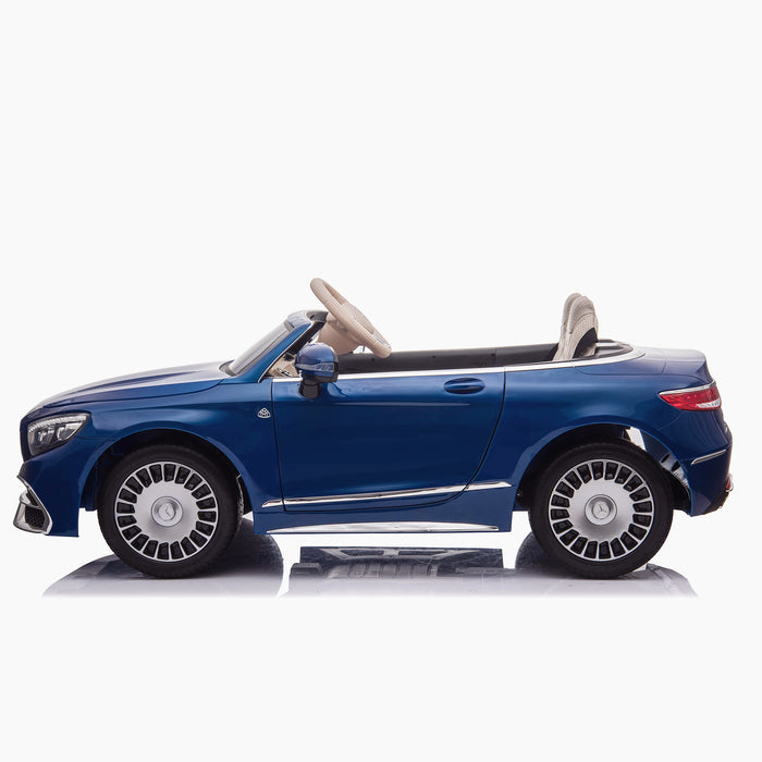 kids mercedes maybach s650 licensed ride on electric car battery operated power wheels car with parental remote control main side blue benz 12v 4wd