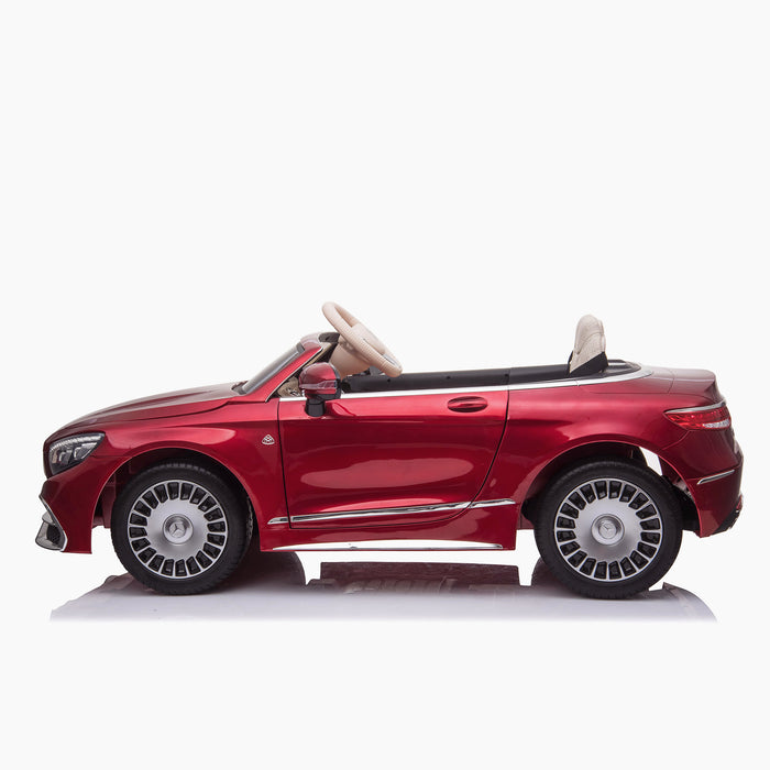 kids mercedes maybach s650 licensed ride on electric car battery operated power wheels car with parental remote control main side red benz 12v 4wd