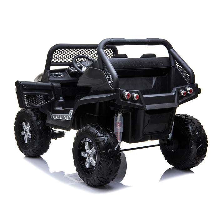 kids mercedes unimog licensed electric ride on car black 11 benz utv atv buggy 12v 4wd