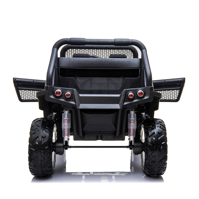 kids mercedes unimog licensed electric ride on car black 12 benz utv atv buggy 12v 4wd paint camouflage