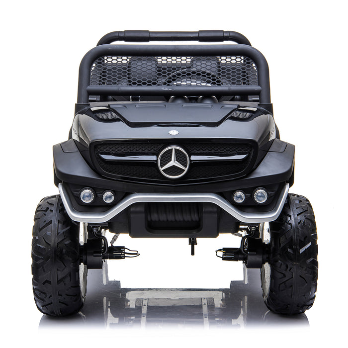kids mercedes unimog licensed electric ride on car black 1 benz utv atv buggy 12v 4wd paint camouflage