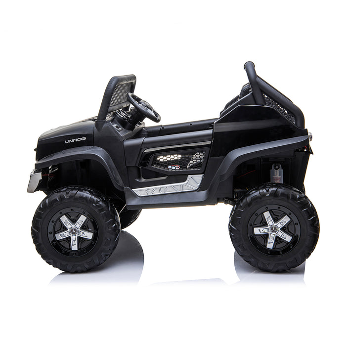 kids mercedes unimog licensed electric ride on car black 3 benz utv atv buggy 12v 4wd paint camouflage