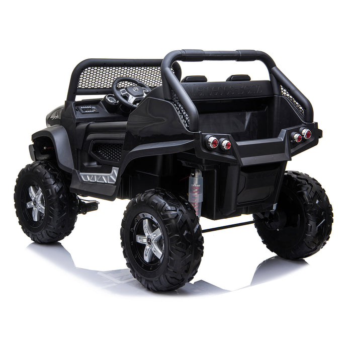 kids mercedes unimog licensed electric ride on car black 5 benz utv atv buggy 12v 4wd paint red