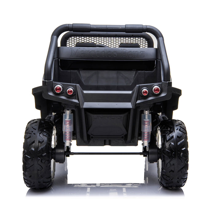 kids mercedes unimog licensed electric ride on car black 6 benz utv atv buggy 12v 4wd paint camouflage