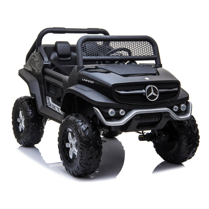 kids mercedes unimog licensed electric ride on car black 8 benz utv atv buggy 12v 4wd paint red