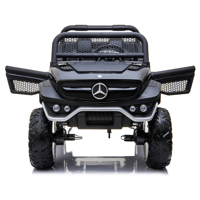 kids mercedes unimog licensed electric ride on car black 9 benz utv atv buggy 12v 4wd paint camouflage