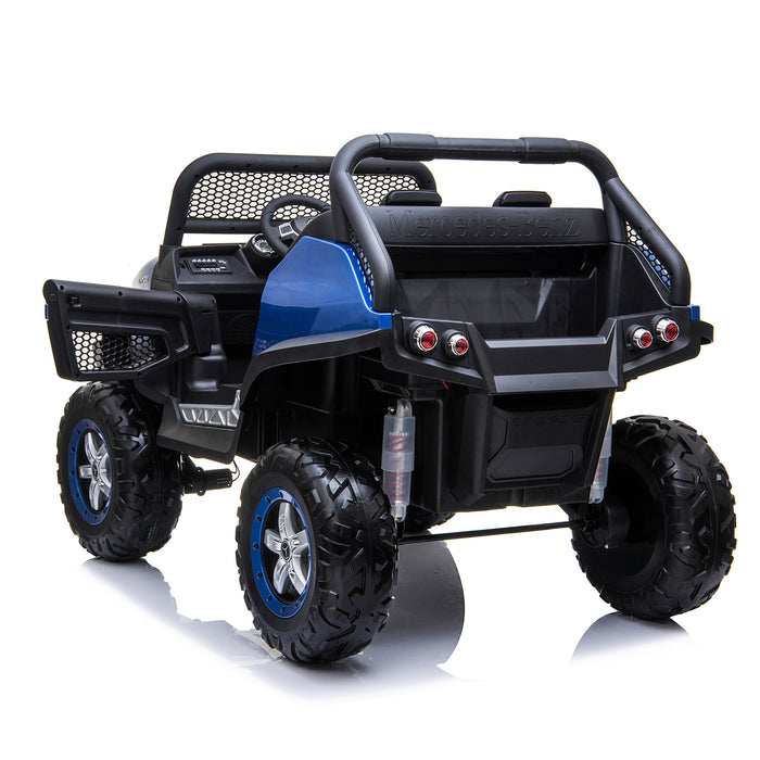 kids mercedes unimog licensed electric ride on car blue 10 benz utv atv buggy 12v 4wd paint red