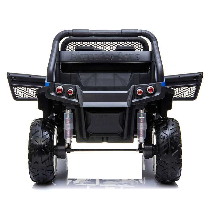 kids mercedes unimog licensed electric ride on car blue 11 benz utv atv buggy 12v 4wd paint red