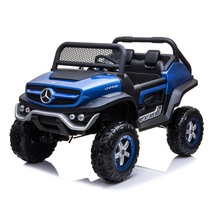 kids mercedes unimog licensed electric ride on car blue 12 benz utv atv buggy 12v 4wd paint camouflage
