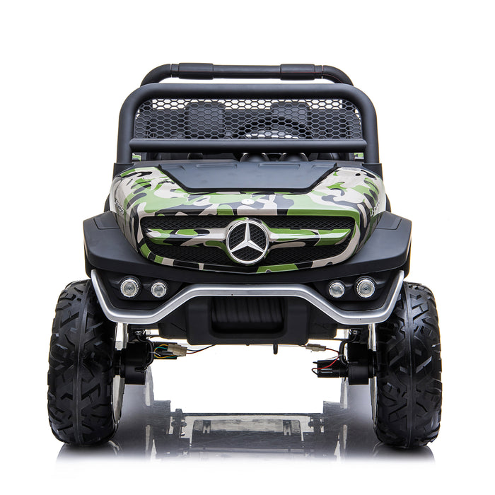 kids mercedes unimog licensed electric ride on car blue 14 benz utv atv buggy 12v 4wd paint camouflage