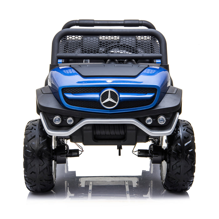 kids mercedes unimog licensed electric ride on car blue 1 benz utv atv buggy 12v 4wd paint camouflage