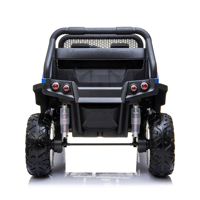 kids mercedes unimog licensed electric ride on car blue 4 benz utv atv buggy 12v 4wd paint camouflage