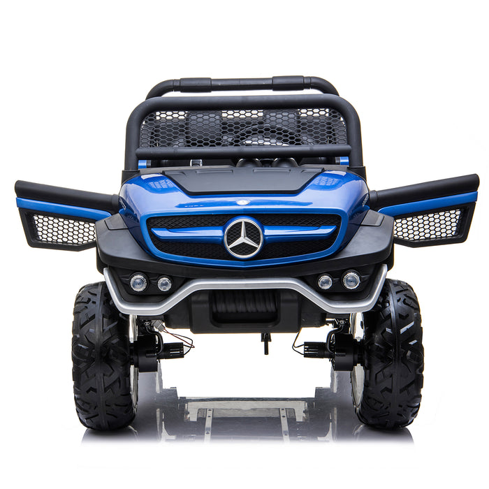 kids mercedes unimog licensed electric ride on car blue 7 benz utv atv buggy 12v 4wd paint red