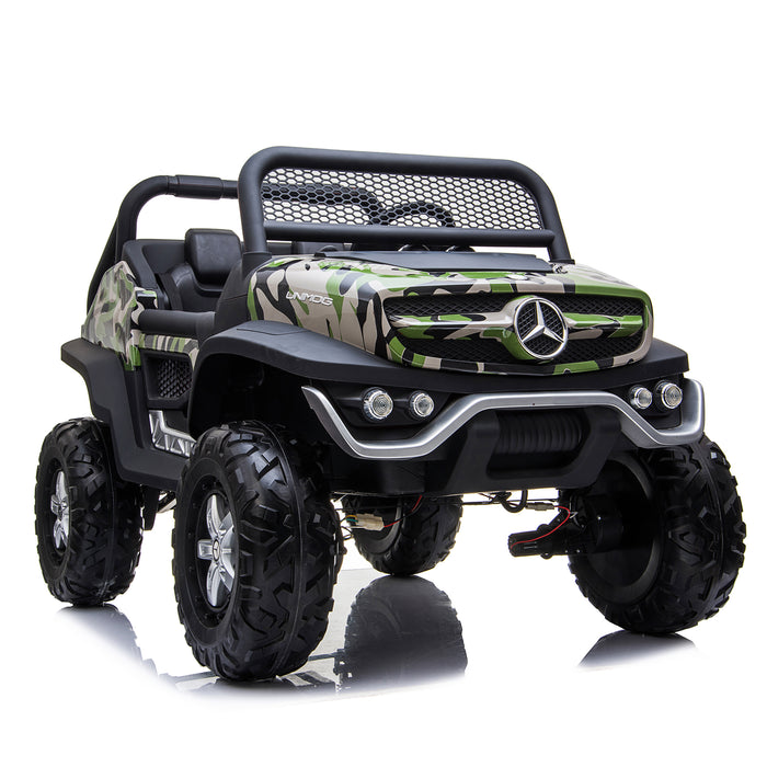 kids mercedes unimog licensed electric ride on car camo 10 benz utv atv buggy 12v 4wd paint camouflage
