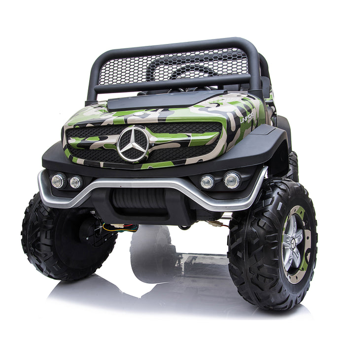 kids mercedes unimog licensed electric ride on car camo 11 benz utv atv buggy 12v 4wd