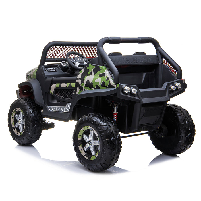 kids mercedes unimog licensed electric ride on car camo 3 benz utv atv buggy 12v 4wd paint red