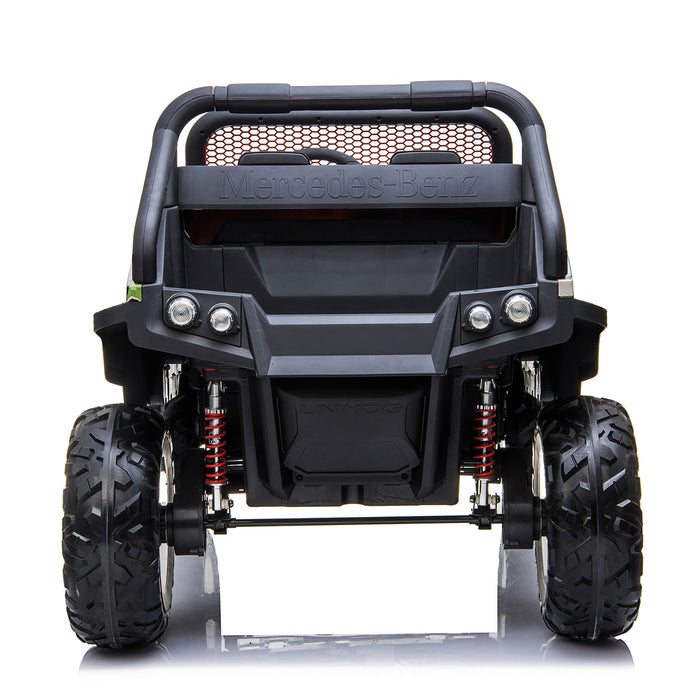 kids mercedes unimog licensed electric ride on car camo 4 benz utv atv buggy 12v 4wd paint red